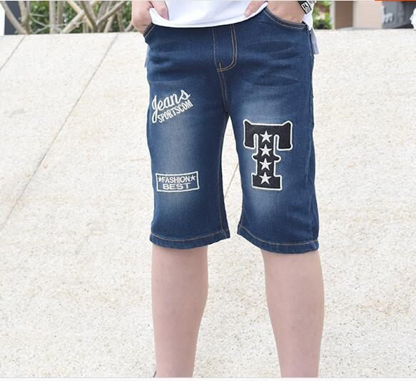 9ac8177fcfe8 2018 summer children s clothes boys shorts casual thin denim blue boys  summer shorts for teen boy big kids slim jean shorts
