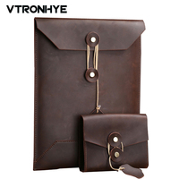 VTRONHYE Business Series Genuine Leather Laptop Sleeve Bag For Macbook Pro 13 15 A1278 A1286 Laptop