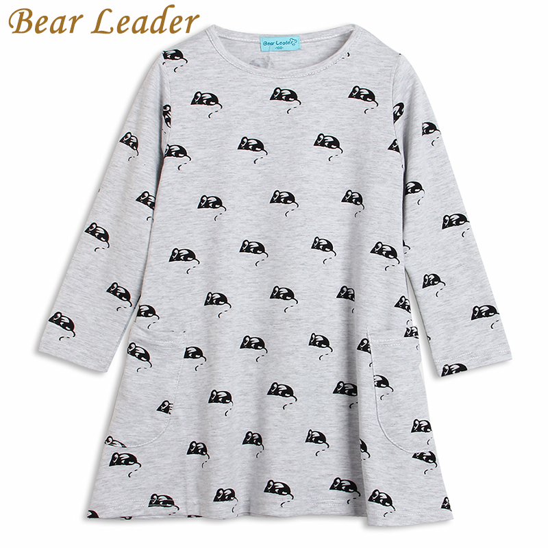 Bear Leader 2016 New Girls Clothing Dresses Cartoon Mouse Autumn&Winter &Spring Style Children Princess Dresses Kids Clothes