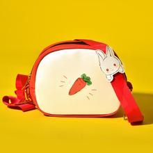 Angelatracy 2019 New Arrival PU Fashion Cartoon Rabbit Carrot Women Cute Lady Girl Korean Japan Shoulder Bag Crossbody