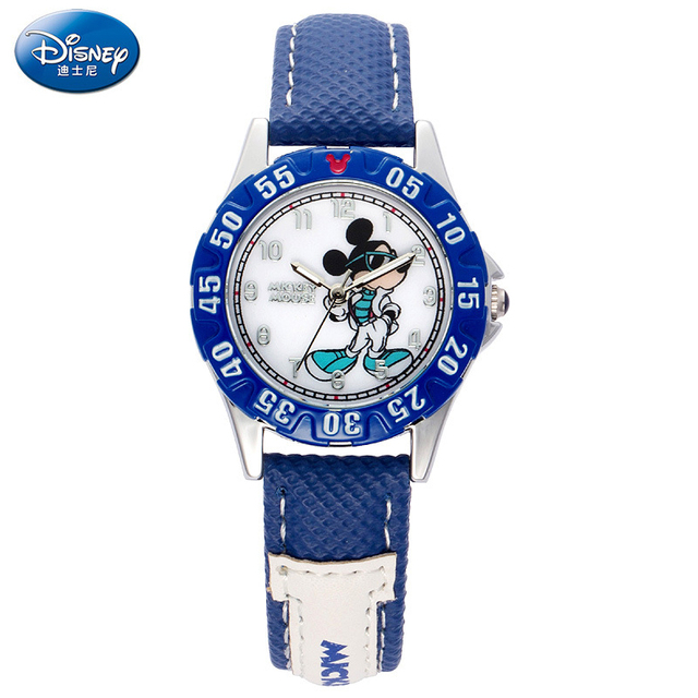 Disney Boy Living Water Resistant Luminescent Quartz Watches Children Watch Students Cartoon Mickey Mouse Watches