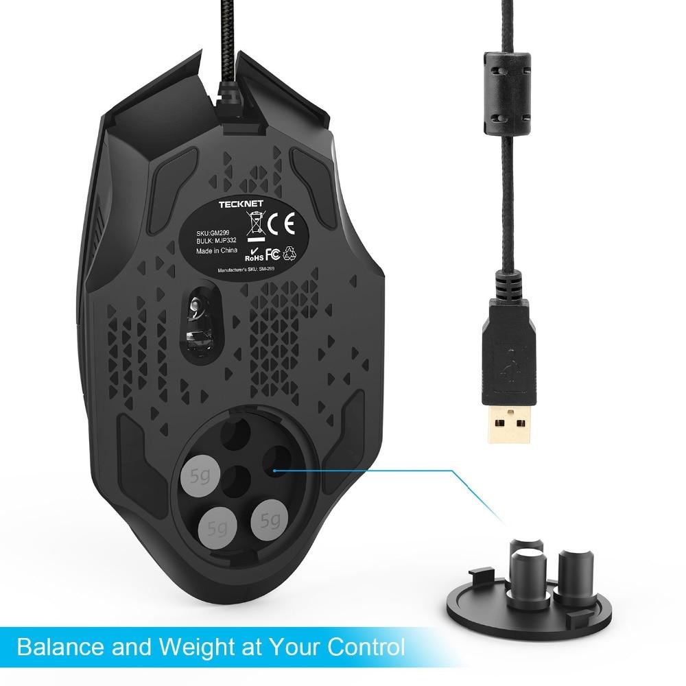 """""""TeckNet RAPTOR Pro"""" programuojama žaidimų pelė, 8 mygtukai, - Kompiuterių periferiniai įrenginiai - Nuotrauka 5"""