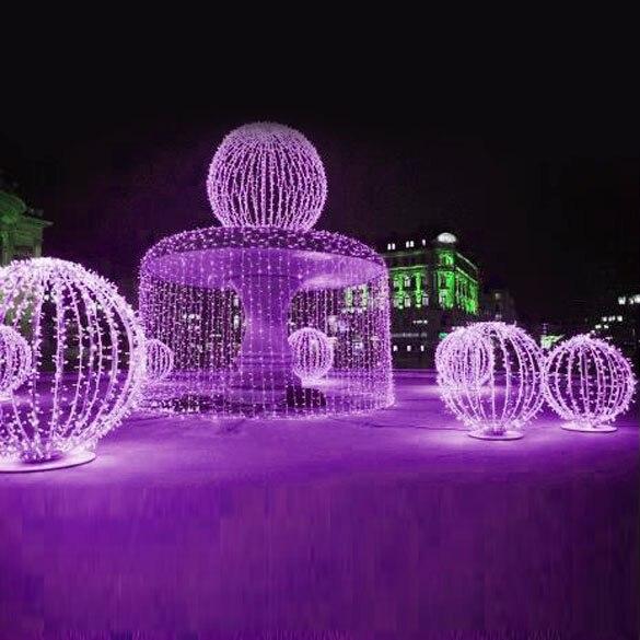 10 m impermeable ac 220 v led cadena de iluminación de vacaciones de decoración
