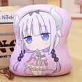 La señorita Kobayashi es Dragón criada Cosplay Kanna Kamui muñeca de juguete de felpa de almohada dragón de peluche cojín de regalo de dos lado x 30x32 cm