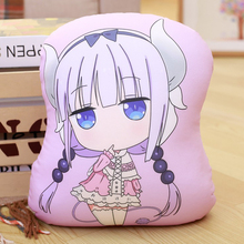 Miss Kobayashi's Dragon Maid Cosplay Kanna Kamui Plush Doll Toy Pillow Soft Cute Dragon Stuffed Cushion Gift Two-side 32x30cm