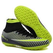 FANCIHAWAY TF fedett futball cipők férfiak FG magas bokavilág futball futball szuperfegyver futbol sportcipők futbol futbol 11