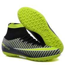 Купить с кэшбэком studieux WAO TF indoor soccer cleats shoes men FG High Ankle  football soccer Turf superfly futbol Sport Shoe Sneakers futbol 11