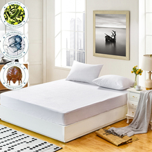 160X200 Terry Mattress Cover 100% Waterproof Mattress Protector Single Bed Bug Dust Mite Mattress Pad Cover For Mattress Cover factory cheap price mattress pocket box spring mattress