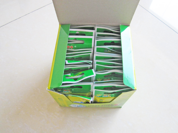 light sticks box open