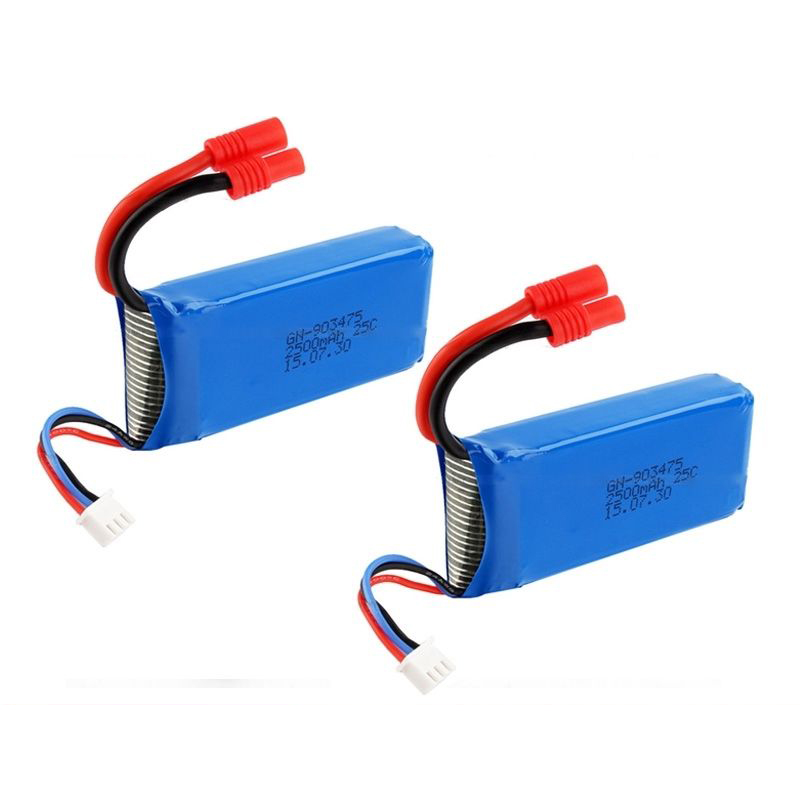 2PCS <font><b>7.4V</b></font> <font><b>2500mAh</b></font> 25C Power <font><b>Battery</b></font> For Syma X8C X8W X8G RC Quadcopter Drone image