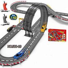Подключение 2 типа железная дорога волшебный гоночный трек Игровой Набор DIY изгиб гибкий гоночный трек электронный флэш-светильник автомобиль игрушки для детей