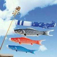 4 Pack Garden Windsock Flag 150cm Japanese Style Carp Streamer Outdoor Wind Sock