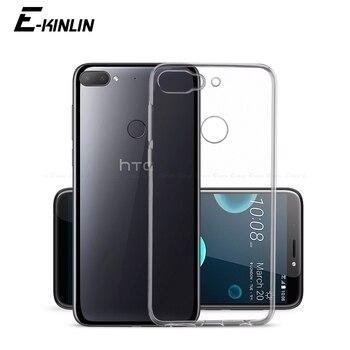 Перейти на Алиэкспресс и купить Прозрачный силиконовый чехол для HTC Desire 20 Pro 19s 12s 12 19 Plus 10 Lifestyle Evo Прозрачный Ультра тонкий полностью мягкий чехол из ТПУ