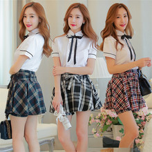 Japanese Korean schoolgirls school wind suit uniforms class service jk pants skirt costumes