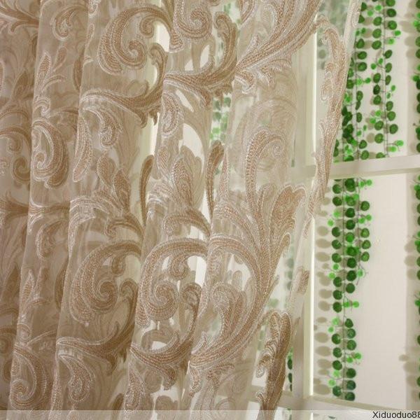 mode bloem cortinas voor woonkamer keuken voile bloemen tule op maat ...