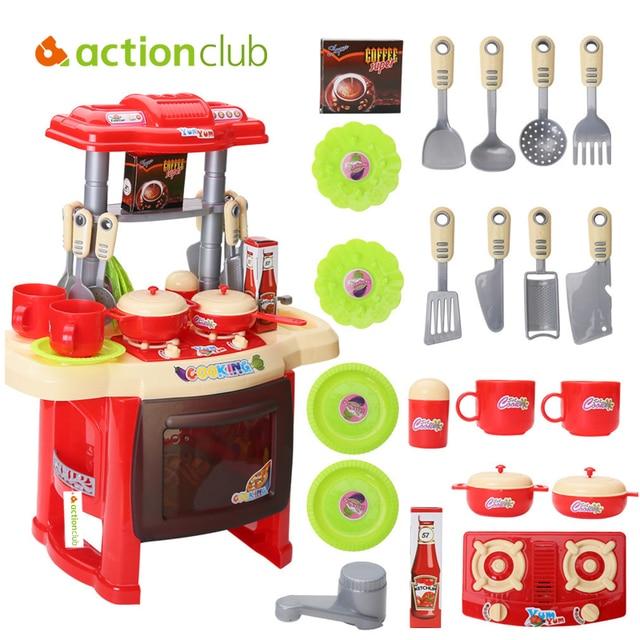 3 6 year children diy kitchen toy kitchen set kid food fruit cooking toys pretented - Toy Kitchen
