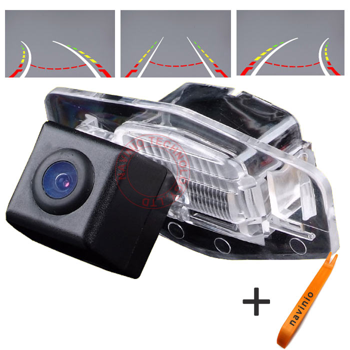 CCD car track camera reversing trajectory for Honda Accord Civic Odyssey Pilot waterproof night vision NTSC PAL(optional) ...