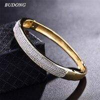2016 Famous Brand Luxury Love Bangle For Women 18k Gold Platinum Plated Bracelet White CZ Zirconia