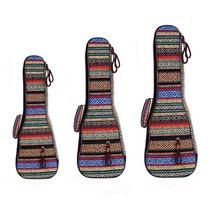 ZONAEL 21 23 26 Inch Padded Cotton Folk Portable Bass Guitar Gig Bag Ukulele Case Box