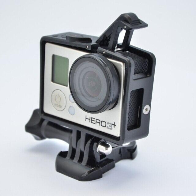 Gopro HERO4 Padrão Quadro BacPac Quadro quadro edição expandida (um pcs Gopro FPV Proteção UV Lens) para HD GoPro HERO4/3 +/3