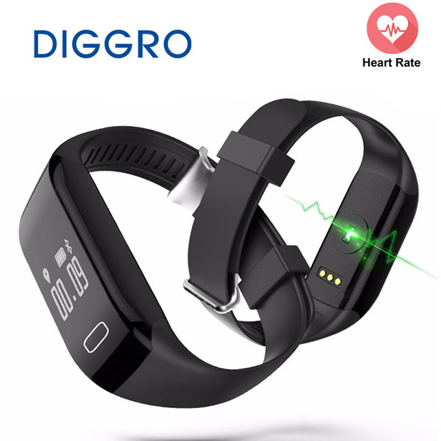 Wholesale Smart Band Diggro H3 Heart Rate Monitor Fitness Tracker Wristband Bracelet Watch Bracelet for IOS & Android Smartphone