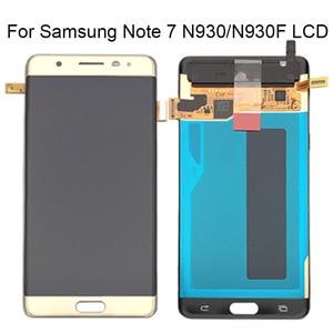 Image 2 - Samsung Not Fan Edition FE Not 7 N930F N935F dokunmatik LCD ekran Ekran Samsung için dijitalleştirici montajı Note7 LCD Değiştirme