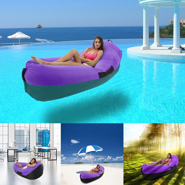 Inflatable Lounger Spring Camping Outdoor Inflatable Sofa Bed Hiking Outdoor Sleeping Bag  FC0164
