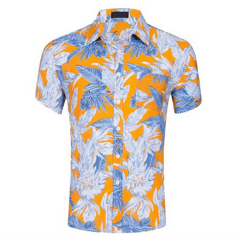 dc45a8584e3 Floral Print Tropical Seaside Hawaiian Shirts - Think Hostel Shop