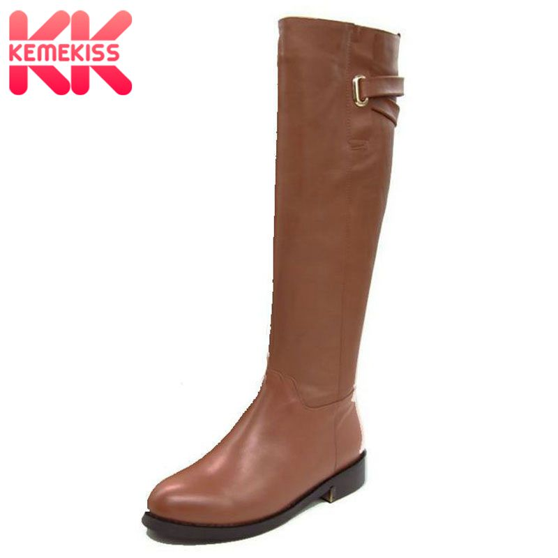 Size 35-43 Russia Winter Warm Over Knee Natrual Real Genuine Leather Low Heel Boots Women Snow Shoes Footwear Boots R1494-1 serene handmade winter warm socks boots fashion british style leather retro tooling ankle men shoes size38 44 snow male footwear