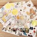 70 pcs/lot DIY Cute Kawaii Bear Owl PVC Decoration Stickers Cartoon Dog Cat Sticky Paper For Photo Album Student 3332