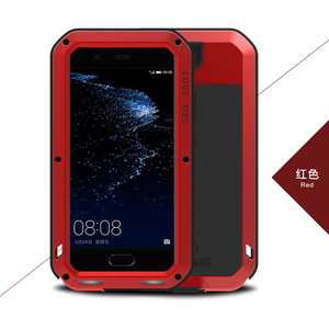 Image 5 - Love Mei Metal Aluminum Phone cover for huawei P10 Phone case 2017 waterproof Shockproof armor rugged Gorilla Glass phone cases