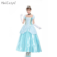 Cinderella Dress Women Cosplay Costume Girls Princess Disguise Sexy Halloween Carnival Party Female Fancy Adult Apparel