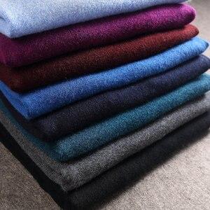 Image 4 - COODRONY Mens סוודרים קשמיר כותנה סוודר גברים טהור צבע סריגי למשוך Homme קלאסי מזדמן V צוואר צמר סוודר גברים 91009