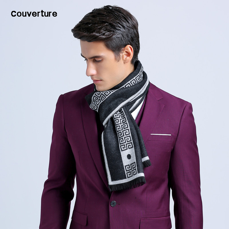 2019 New Letter Luxury Brand Business Mens Scarf Silk Cashmere Scarf Shawl Good Quality Winter Warm Scarves Men 180*30 Cm