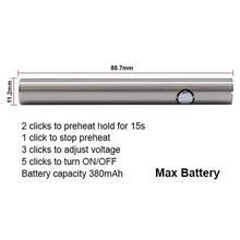 E Cig battery Max C3 Preheating VV Batteries 380mAh Adjustable Voltage Electronic Cigarette for vaporizer pen.jpg 220x220 - Vapes, mods and electronic cigaretes