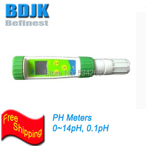 0~14PH Pen Digital PH Meters Handheld Tester with Temp. Compensation Free Shipping