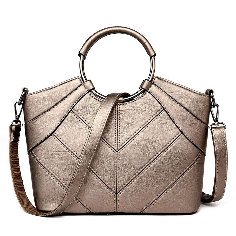Women Famous Brand Handbags Female Ring Large Capacity Designer Shoulder Crossbody Bag European Ladies Hand Bags Suede Briefcase