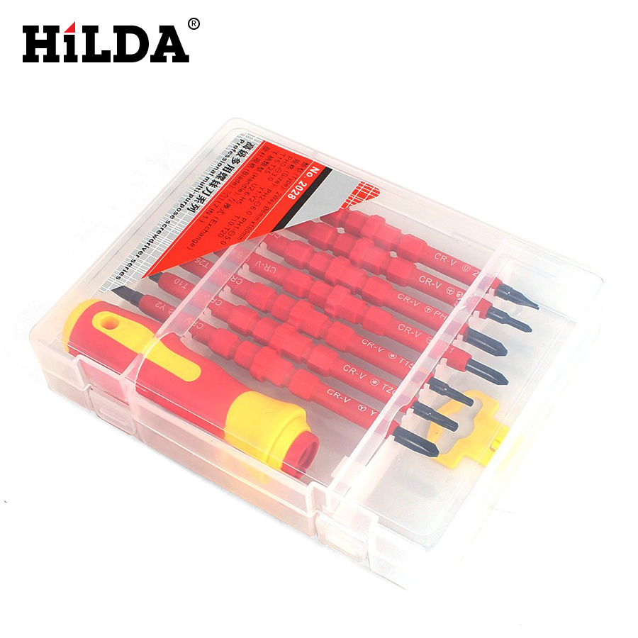 HILDA Screwdriver Set 7 In 1 Multi-Bit Tools Repair Torx Screw Driver Screwdrivers Kit Home Useful Multi Tool Hand Tool