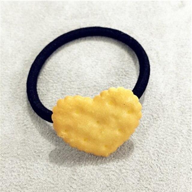 Κοριτσίστικα τσιμπιδάκια για τα μαλλιά σε σχήμα μπισκότου 1τμχ λαστιχάκια για τα μαλλιά για κορίτσια σε σχήμα μπισκότου