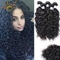 Sunlight Hair Raw Peruvian Water Wave Virgin Hair 4 Bundles 100g/pc Best 8A Virgin Hair Wet And Wavy Weave Water Wave Hair