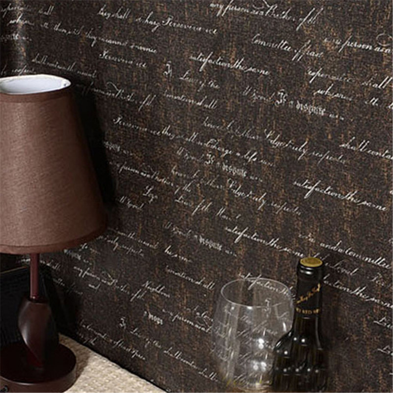 Wallpapers Vintage Wall murals Extra Thick PVC English Letters Wallpaper For Living Room Bar cafe Vinyl Roll Home Improvement shinehome european roman pillar angel soft roll wallpaper for 3d rooms walls wallpapers for 3 d living room wall paper murals