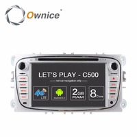 Ownice C500 4G LTE Android 6.0 Octa 8 Core Car DVD Player GPS For FORD Mondeo S MAX Connect FOCUS 2 2008 2009 2010 2011 32G ROM