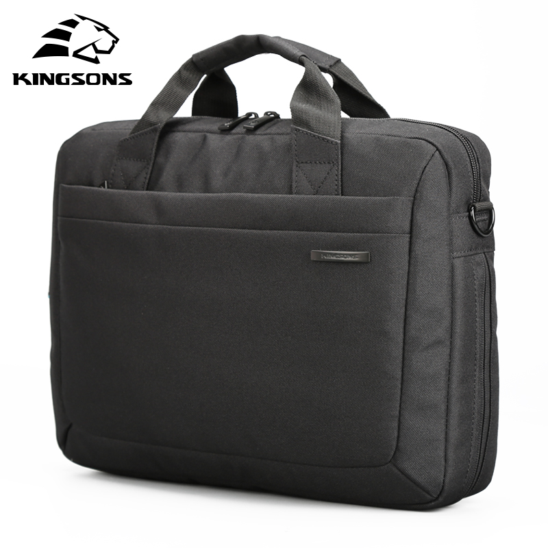 Kingsons Waterproof 12.1/13.3/14.1/15.6/17.3 inch Laptop Bag Notebook Computer Briefcase Shoulder Messenger Bag lige top brand luxury mens watches automatic mechanical watch men full steel business waterproof sport watches relogio masculino