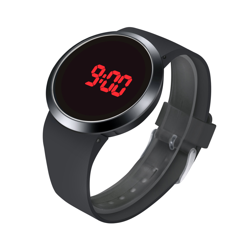 Women Sports Clock Analog Quart Waterproof Men LED Touch Screen Day Date Silicone Wrist Watch