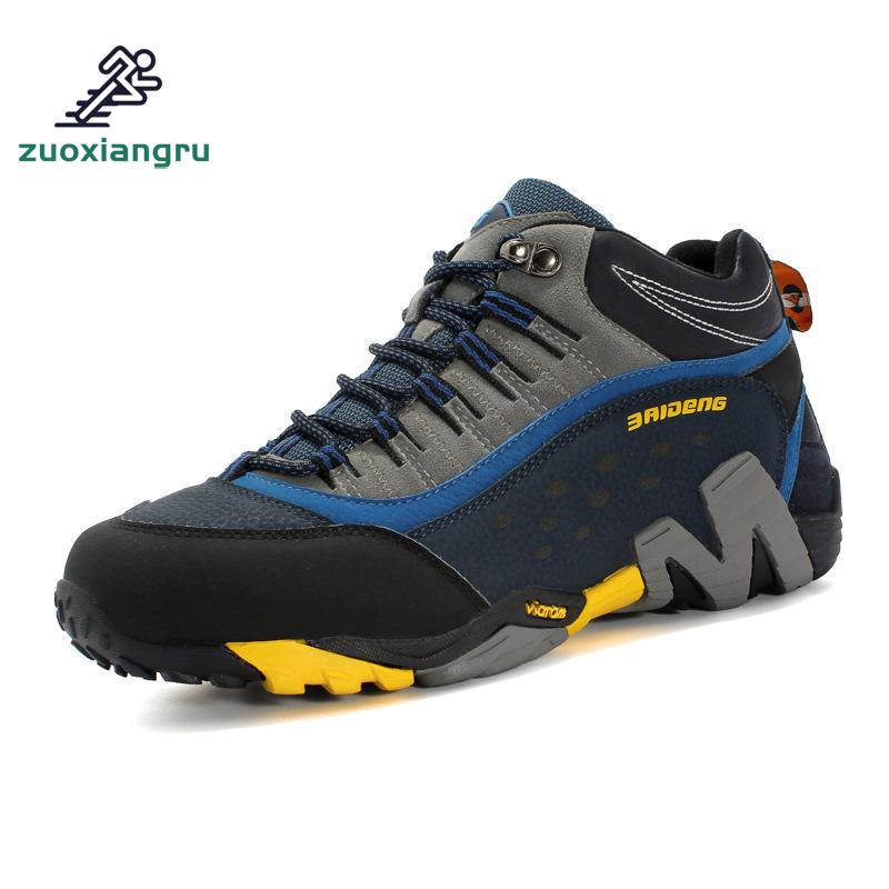 Men Outdoor Hiking Shoes Waterproof Breathable Hunting Trekking Sneakers Shoes Genuine Leather Sport Climbing Hiking Shoes