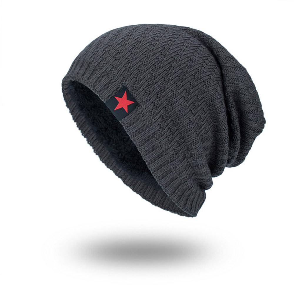 e7d780e02d42cb Caps cap men women beanie star beanies for men black Winter bonnet ...