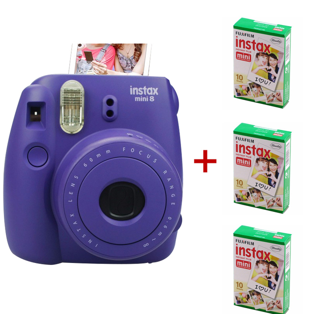 Newest Fuji Instax Mini 8 Camera Mix Color Instant Fujifilm Photo 3 Packs