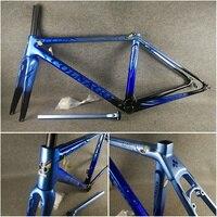 블루-블랙 T1100 UD 광택 Colnago C64 탄소 도로 프레임 자전거 프레임 세트 48/50/52/54/56cm 6 색 선택