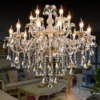 Crystal chandelier living room European style bedroom dining room lamp simple modern candle crystal lamp luxury hall lamp