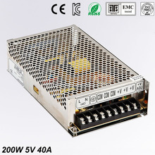 цены 5V 40A 200W Switching Power Supply Driver for LED Strip AC 100-240V Input to DC 5V free shipping